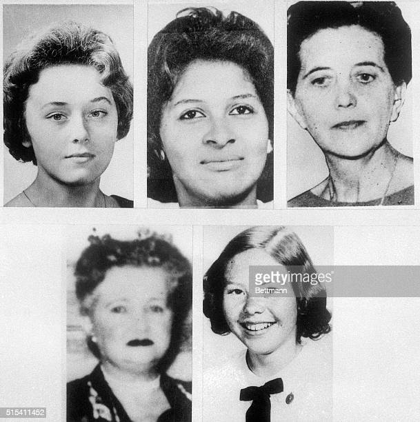 These file photos show five of the 13 women strangled in the Boston area over the past few years Police feel that all may have been killed by the...
