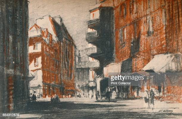 These foreign-looking streets, c1927, . From A Book About Paris by George and Pearl Adam. [Jonathan Cape, London, 1927.]. Artist Henry Franks Waring.