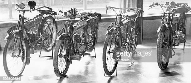 These four motor cycles are on display at the newlyopened Herbert Art Gallery and Museum in Coventry The newlyrestored machines are from left A 1912...
