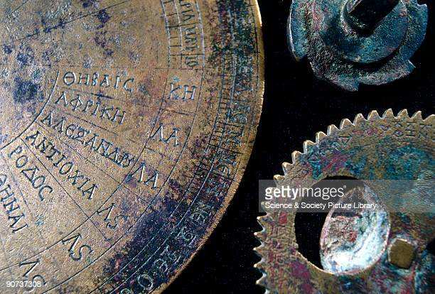 These fragments are the remains of a portable sundial with calendrical gearing The gear wheels are the second oldest surviving examples They are...