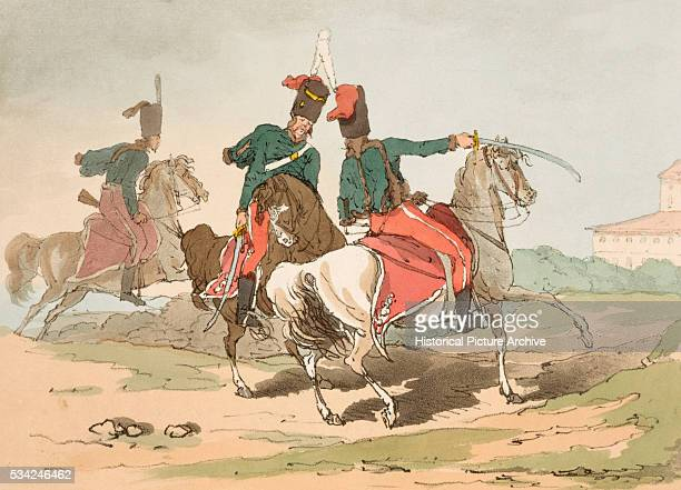 These Hussars dressed in the Hungarian style are used as foreriders to the Imperial families' carriages