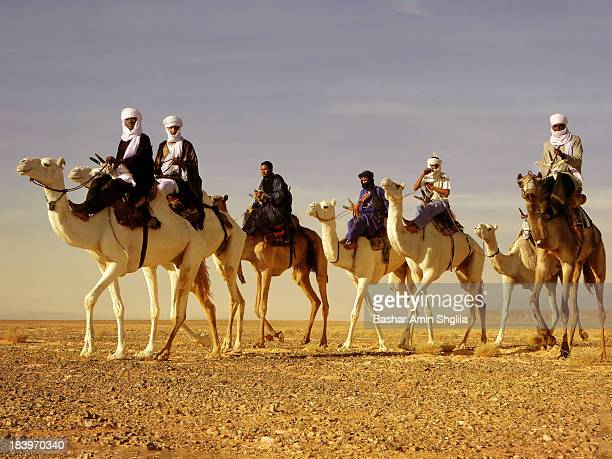 These Knights came from Ouargla in Algeria to participate in Teniri camel racing, which was held in the city of Ghadames in Libya, and they won the...
