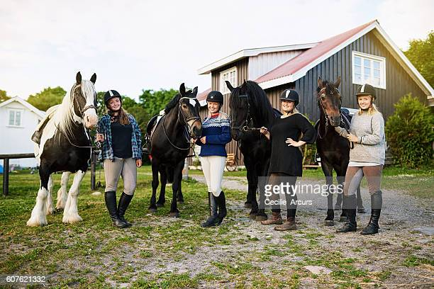 These ladies love horses