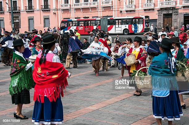 These Latin Americans are celebrating the founding of the capital city of Quito Ecuador