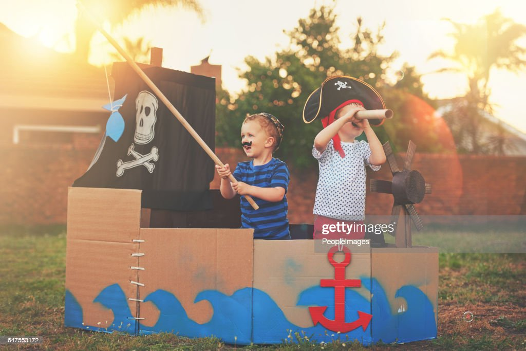 These little pirates just want to have fun : Stock Photo