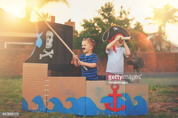 these little pirates just want to have fun - leisure games stock pictures, royalty-free photos & images