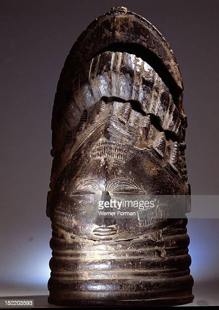 These masks are worn by senior female officials sowei of a society known as Sande among the Mende The only known female use of wooden masks in sub...