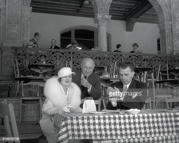 These noted personages are pictured at the Agua Caliente racetrack where they witnessed Gallent Sir win the annual Agua Caliente handicap setting a...