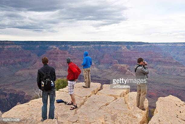 Park Visitors Watch an Approaching Storm from Hopi Point