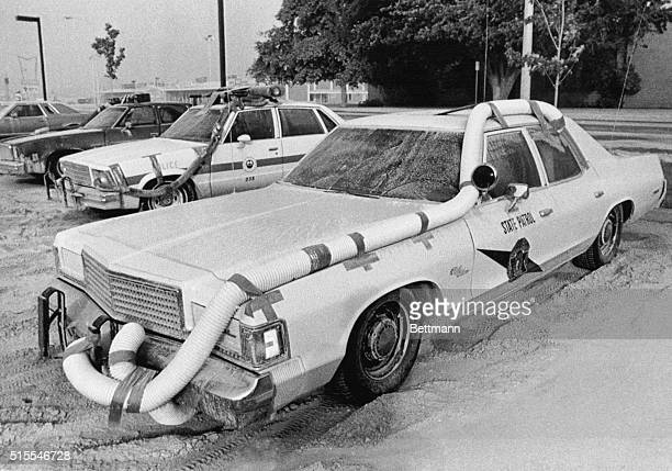 These State Police cars look like something from the moon as they are equipped with homemade air breathing devices to prevent volcanic ash from...