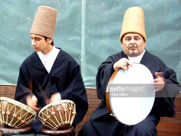 These Sufi musicians were performing in a busy shopping street in Istanbul.