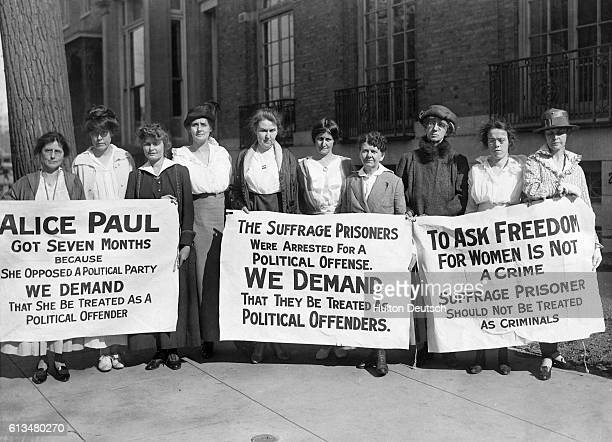 These ten women had just been released from a sixty day sentence in a Washington workhouse following a picket at the White House Washington DC The...