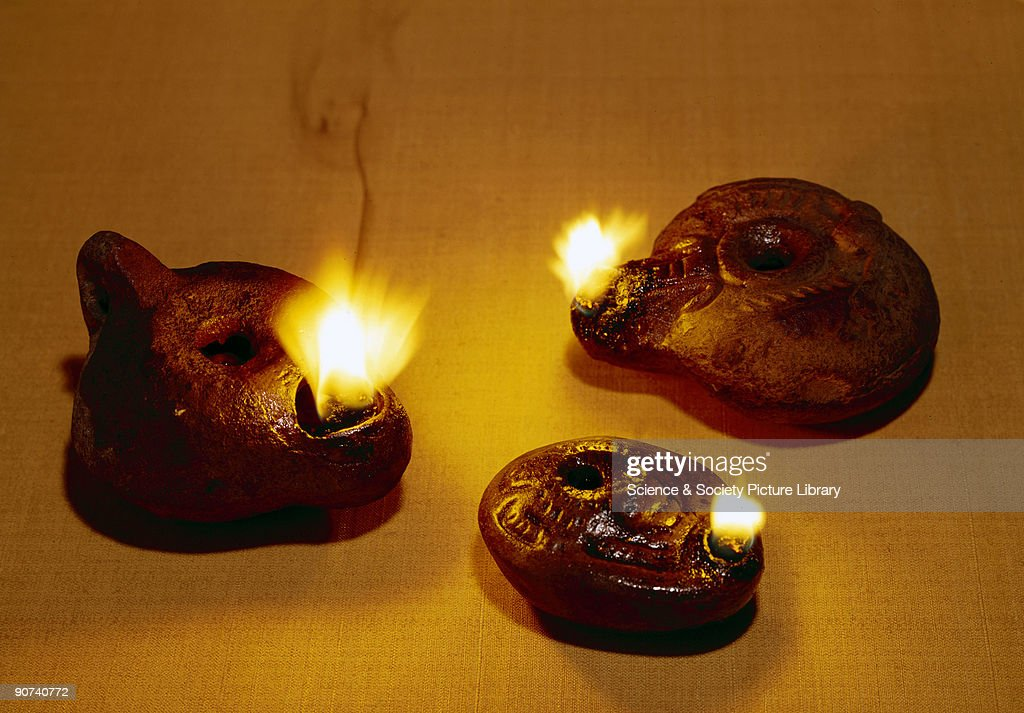 These Three Small Pottery Oil Lamps Are Approximately 2,000 Years Old And  Are Probably Egyptian Or