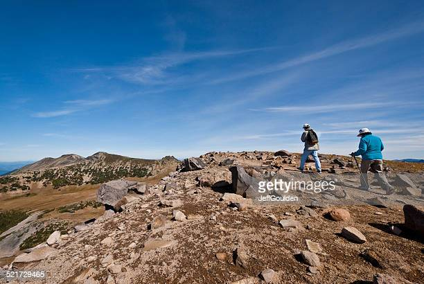 Two Adult Hikers on Burroughs Mountain