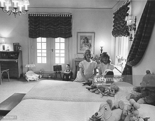 APR 1965 MAY 12 1965 These two children of the Charles R Freers Carol and Chris share a large bedroom Many of the pictures and artifacts on walls in...