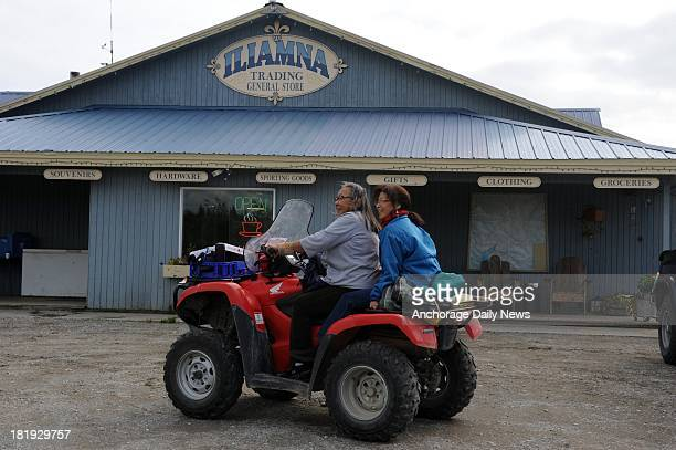 These two villagers from Nondalton traveled by four-wheeler to attend the EPA meeting in Iliamna on Tuesday, August 27, 2013. The village of Ilamna,...