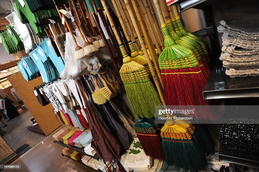 These unusual brooms are from Thailand  Steve Thompson, the owner of