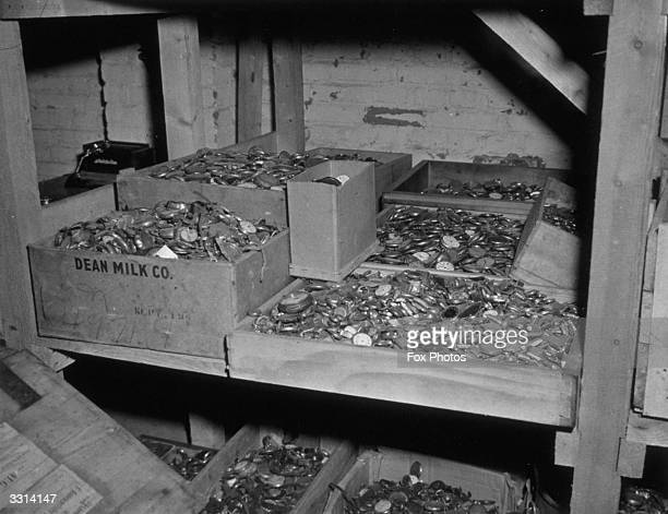 These watches are a few of the thousands of valuables the Germans removed from their victims in the Buchenwald concentration camp near Weimar Germany