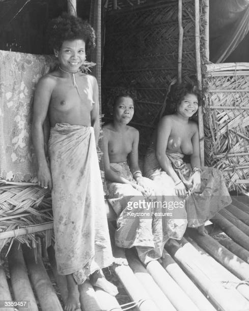 These young Aborigine girls had been given bras to wear but had found them uncomfortable and threw them away