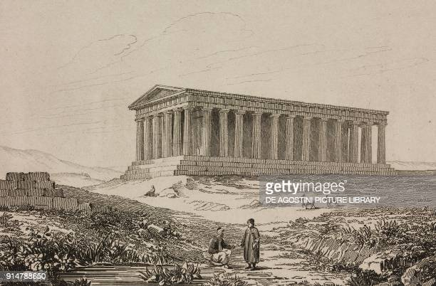 Theseion or Temple of Hephaestus Athens Greece engraving by Ollivier from Grece by Francois Pouqueville L'Univers pittoresque Europe published by...