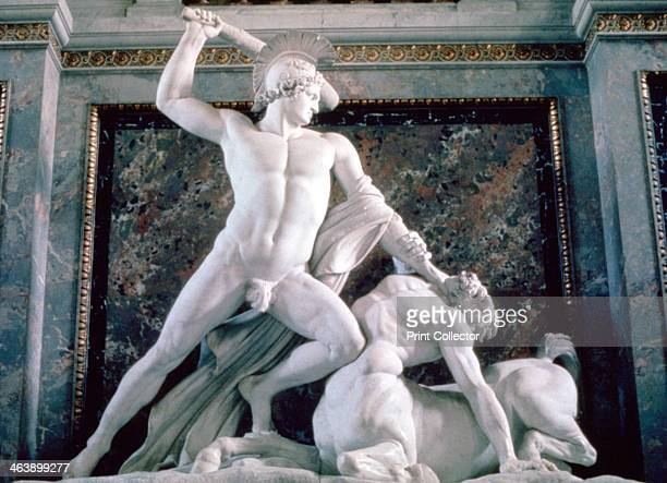 'Theseus and the Centaur' 18041819 Theseus raises his club to strike down on the centaur From the collection of the Kunsthistorisches Museum Vienna...