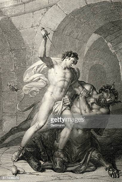 Theseus son of the King of Athens Aegeus fought Minotaur a half man half bull monster from Crete in the legendary Cretan Labyrinth