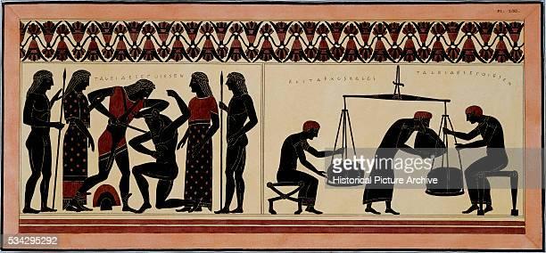 Thesus Killing Minotaur and Weighing Wool