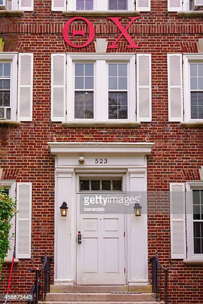 theta chi fraternity sign - state college stock photos and pictures