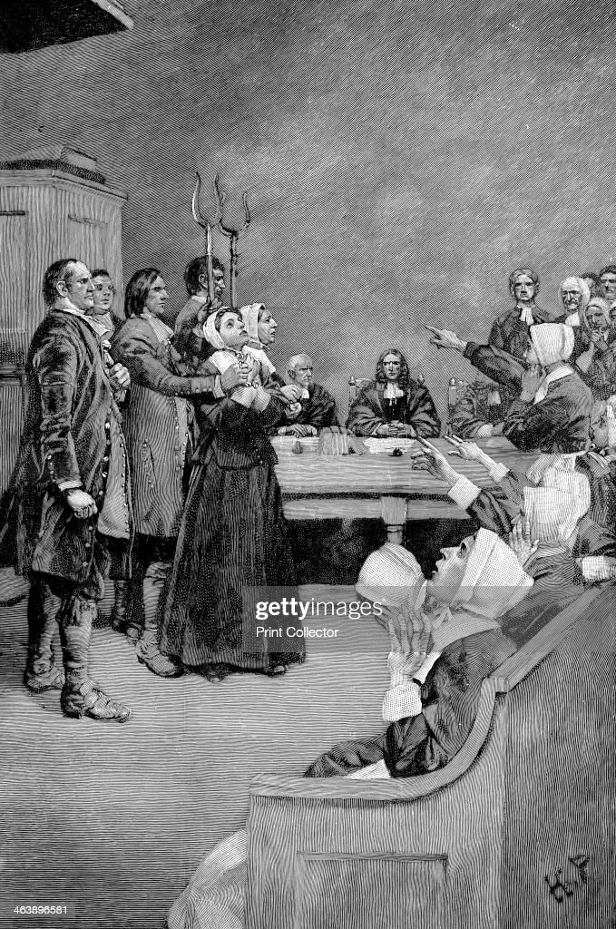 TheTrial of a Witch, America, (17th century), 1882. : News Photo
