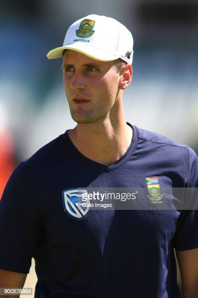 Theunis de Bruyn during the South African national cricket team training session at PPC Newlands on January 02 2018 in Cape Town South Africa