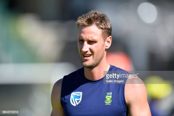 Theunis de Bruyn during the South African national mens cricket team training session and press conference at PPC Newlands Stadium on March 19 2018...