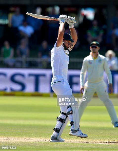 Theunis de Bruyn of South Africa during day 4 of the 2nd Sunfoil Test match between South Africa and Australia at St Georges Park on March 12 2018 in...