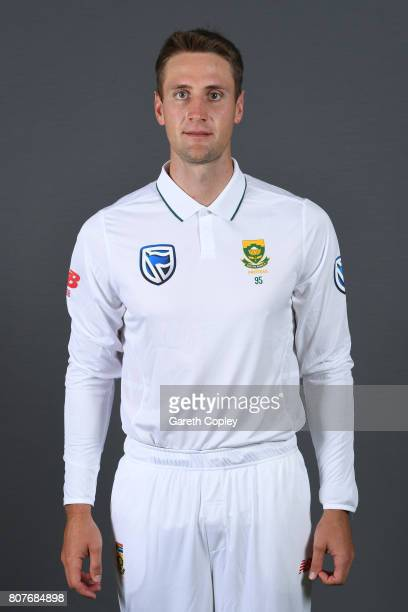 Theunis de Bruyn of South Africa poses for a portrait at Lord's Cricket Ground on July 4 2017 in London England
