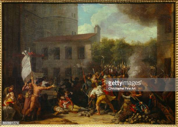 Thevenin Charles The Storming of the Bastille and the Arrest of Joseph Delaunay 14 July 1789 Paris Carnavalet Museum