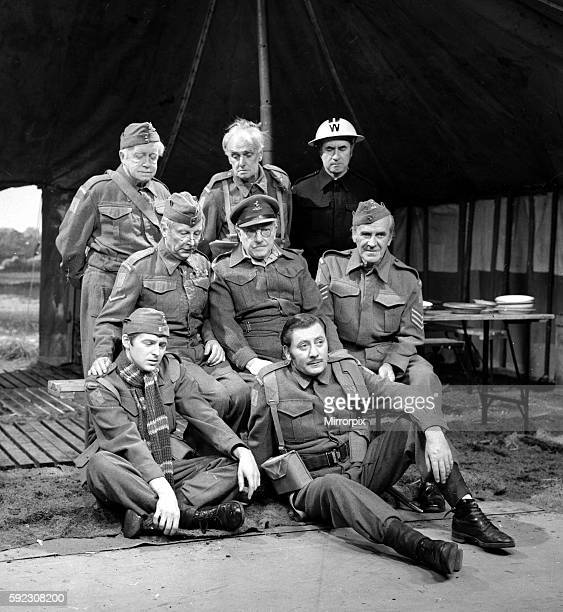Arnold Ridley John Laurie and Bill Pertwee Middle row left to right are Clive Dunn Arthur Lowe and John Le Mesurier Front row are Ian Lavender and...