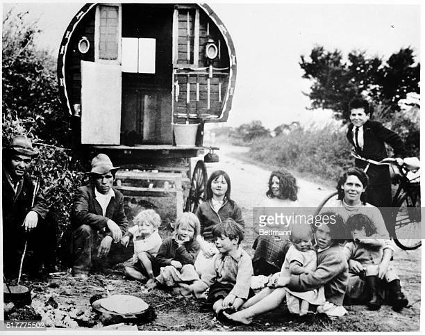 They are Gypsies but in Ireland thay are called itinerants or tinkers and they present a grim reminder of the famine days in this country Homeless...