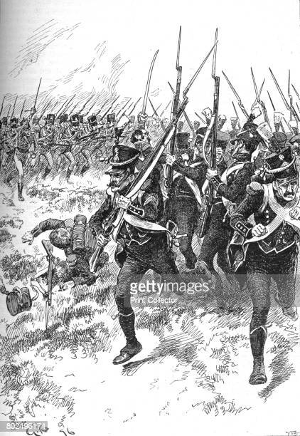 They Broke and Fled in the Direction of Maida' 1902 The Battle of Maida in Italy during the Napoleonic Wars From Battles of the Nineteenth Century...