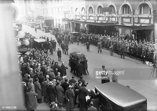 They broke Harry Houdini's wand and laid it across the flowerladen coffin at the Elks Club in New York City November 4th In elaborate funeral...
