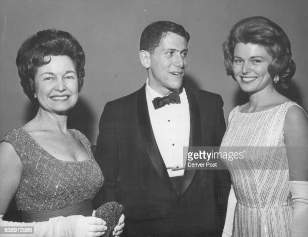 They came to see Tom Chadwick in play Mrs Francis VanDerbur her daughter Marilyn and escort Larry Atler arrive for Bonfils opening They saw Francis...
