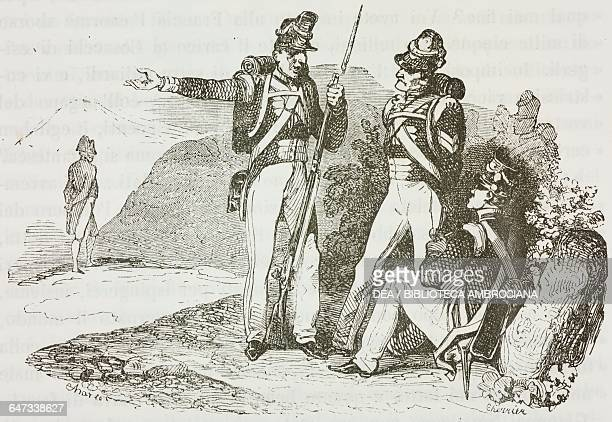 They deceived me and told me that Napoleon Bonaparte was old, it is not true at all, the words spoken to his fellow soldiers by an English grenadier...