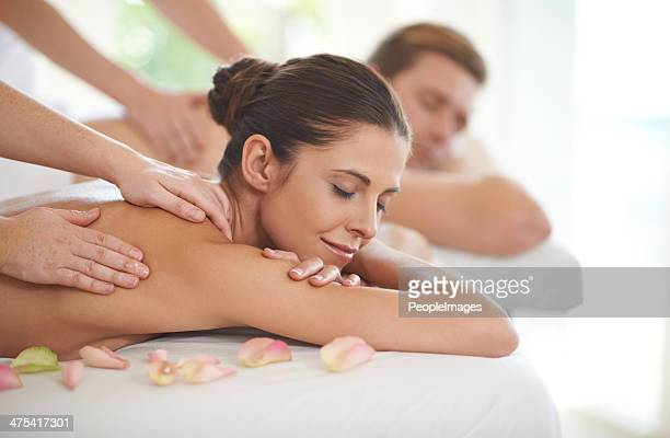 they deserve this pampering - massage stock photos and pictures