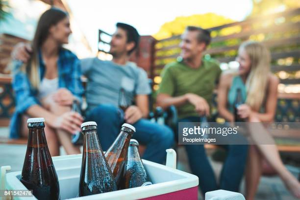 they don't call it a chill out session for nothing - esky stock photos and pictures