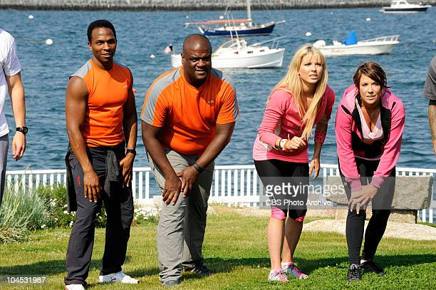 """""""They Don't Call It The Amazing Race For Nothin'""""--Best friends Ron and Tony and Home Shopping hosts Brook and Claire at the start of THE AMAZING..."""