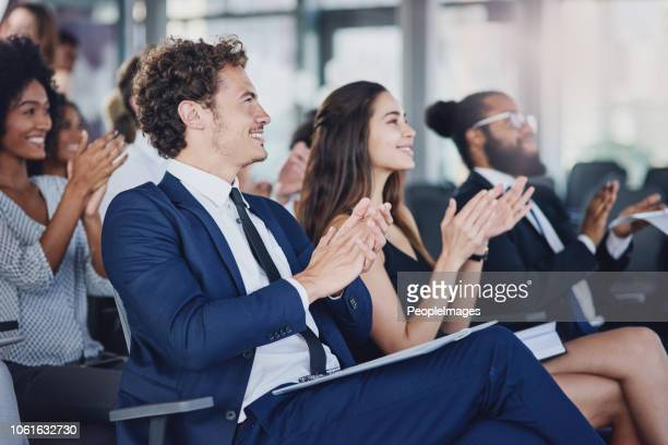 they don't just applaud for anything - awards ceremony stock pictures, royalty-free photos & images