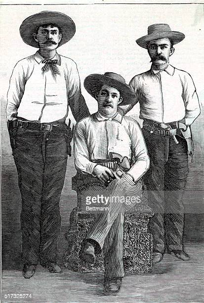 They Enforce the Law City Marshall CN Bryan and his efficient deputies H Barker and Ed Thomas of Syracuse Kansas Undated engraving