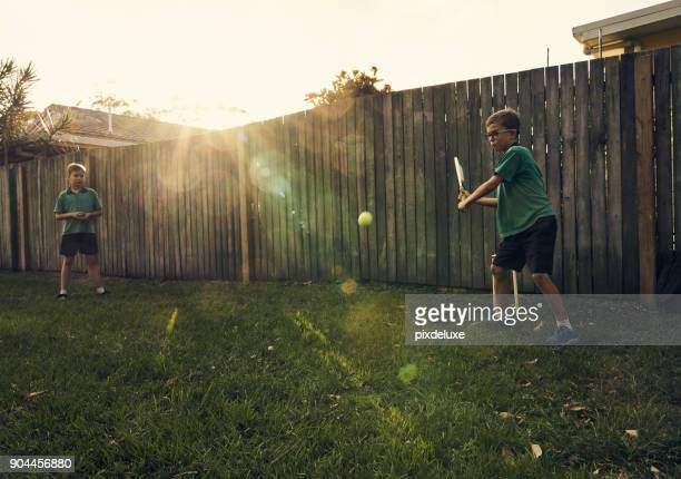 they have the most fun when they play together - sport of cricket stock pictures, royalty-free photos & images