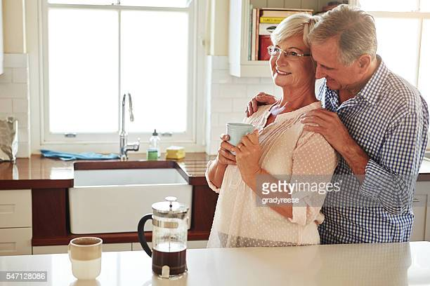 they know the secret to a happy marriage - husband massage wife stock photos and pictures
