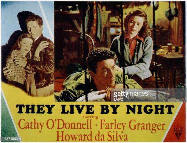 They Live By Night lobbycard Farley Granger Cathy O'Donnell 1948