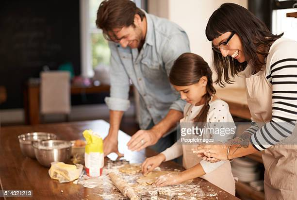 They love baking together