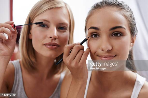 They love playing around with makeup